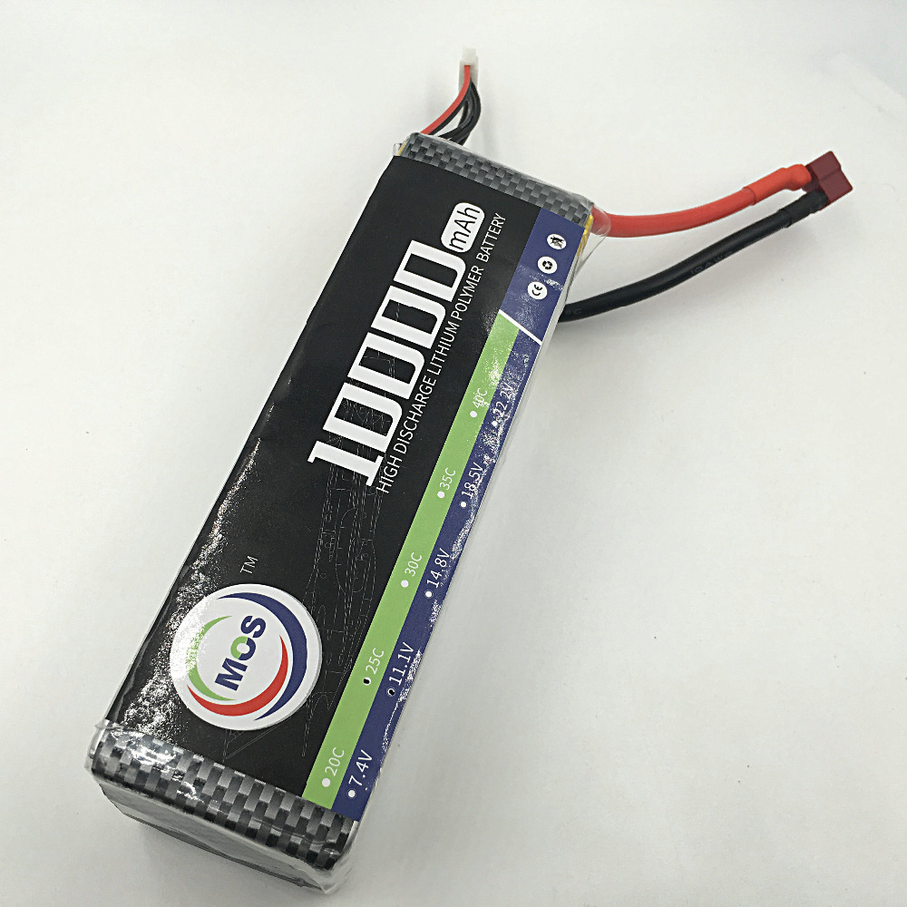 MOS 4S 14.8v  10000 25c lipo battery for rc airplane free shipping