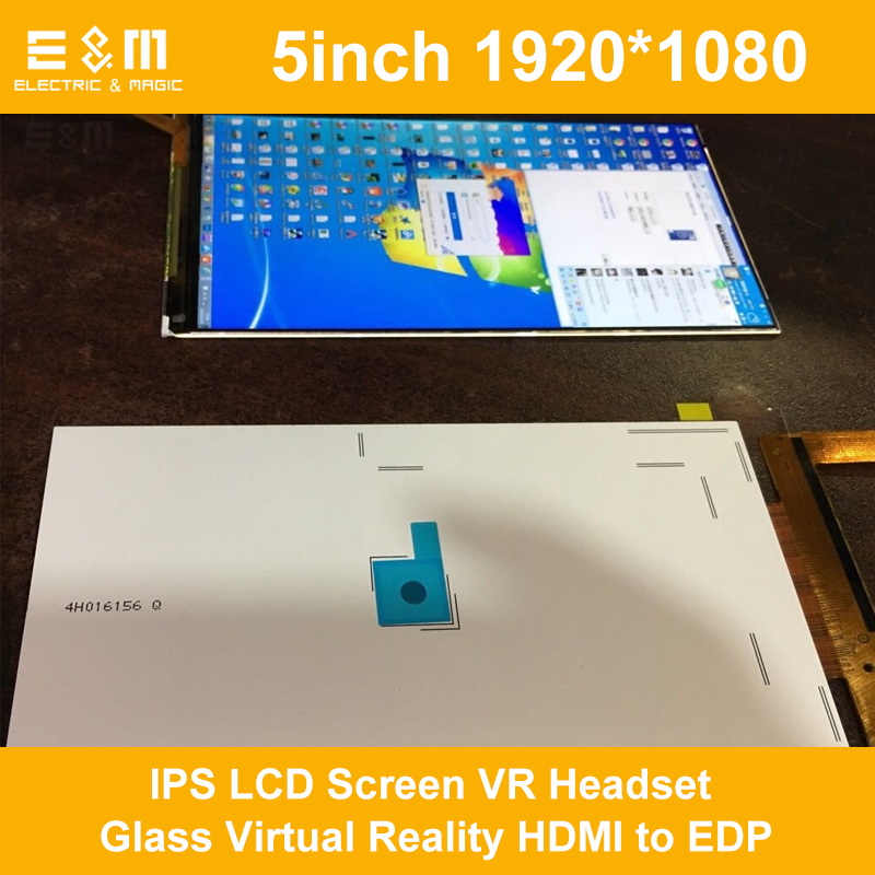 E&M 5inch 1920*1080 IPS LCD Screen VR Headset Glass Virtual Reality HDMI To EDP CV1 Head Mounted 1440P DIY LS050T1SX01 Display