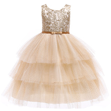 Children's and girls elegant wedding flower girl dress princess party beauty pageant formal sleeveless lace tulle princess dress kids girls elegant wedding flower girl dress princess party pageant formal sleeveless lace tulle dress 2 14 years vestidos nina