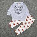 2 Pcs Conjuntos de Roupas de Bebê Menino Primavera Bebê Recém-nascido Roupas Macacão de Bebê Meninas Da Criança Do Bebê Roupas de Outono Roupa Dos Miúdos T-shirt + Calças