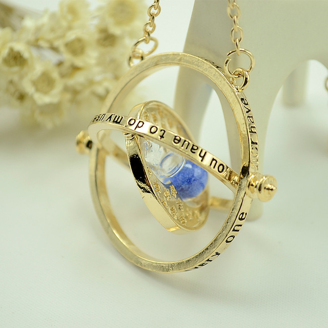 Harry Potter Europe hot Necklace time hourglass Necklace and converter