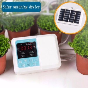 Image 4 - 1/2 Water Pump Timer Intelligent Garden Automatic Irrigation System Watering Device Solar Energy Charging Potted Plant Drip