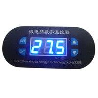 New Arrival DC 12V Digital Thermostat Temperature Alarm Heat Cool Controller Sensor Meter Mini LED Thermal
