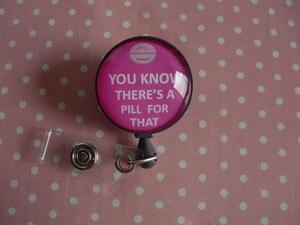 Image 3 - Sai che c è una Pillola per Questo, retrattile ID Badge Reel RX Badge Holder Farmacia Distintivo Reel Il Farmacista Badge Holder