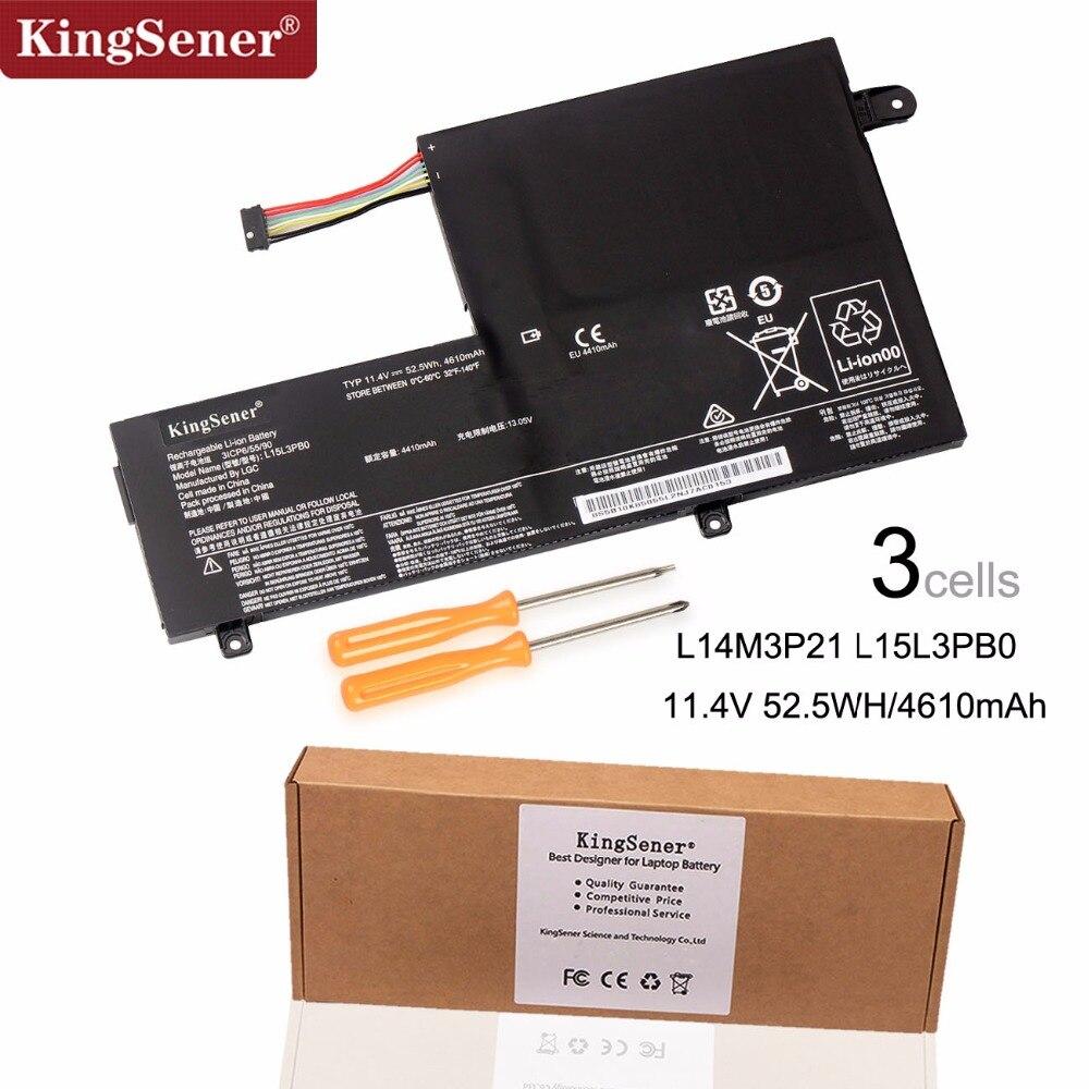 KingSener New L14M3P21 L15L3PB0 Laptop Battery For Lenovo Flex 3 1470 1570 Flex 4 1470 Yoga 500 500-15 ISK Edge 2-1580 L14L3P21