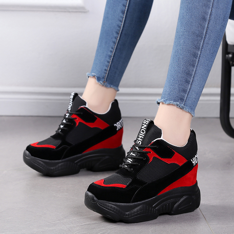 Women Sneakers Fashion Women Height Increasing Breathable Lace-Up Sneakers Platform Shoes Woman Casual Shoes Female Chaussure Women Sneakers Fashion Women Height Increasing Breathable Lace-Up Sneakers Platform Shoes Woman Casual Shoes Female Chaussure