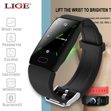 LIGE 2019 New Smart Bracelet Color Screen Blood Pressure Fitness Tracker Heart Rate Monitor Smart Band Sport for Android IOS 2018 p3 smart wristband bracelet color screen blood pressure fitness tracker heart rate monitor smart band sport for android ios