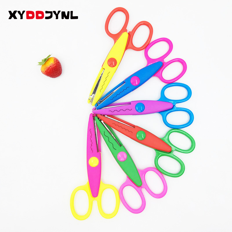 1 Pcs Student Stationery Manual Diy Album Album Creative Lace Scissors Serrated For Child Safety Lace Fun Scissors