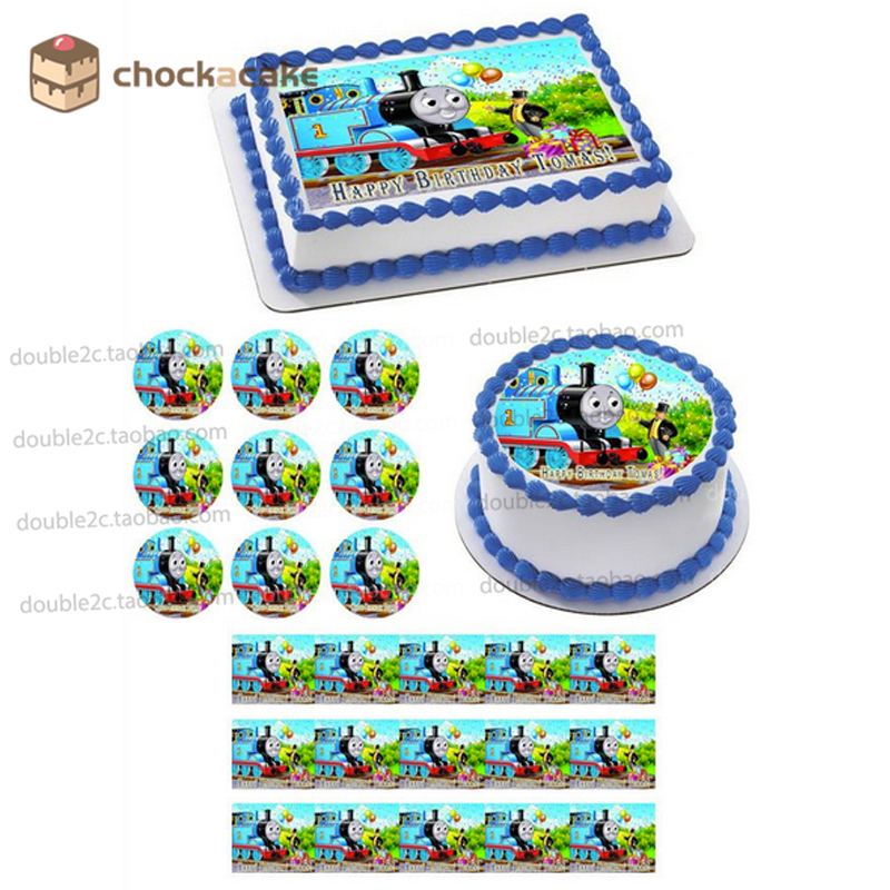 Tomas edible paper for cake topper with name, baby boy birthday cake topper,cartoon edible wafer for cake decoration