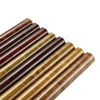 Car Styling 50 200cm Wood Textured Grain Vinyl Wrap Decals Adhesive Glossy Wood Grain PVC