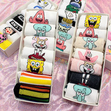 SP&CITY 7 Pairs Harajuku Women Funny Patterned Short Cotton Socks Colored Hipster Ankle Cool Women Student Cute Casual Art Sox(China)