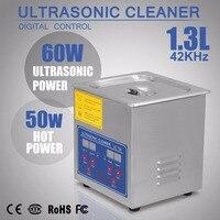 O líquido de limpeza ultrassônico comercial 1.3l de vevor ultrassônico para os anéis dos óculos da limpeza a grande capacidade aqueceu o líquido de limpeza ultrassônico limpo