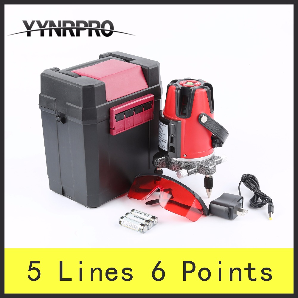YYNRPRO 5 Lines 6 Points Laser Level 360 Vertical & Horizontal Rotary Cross Laser Line Leveling a8827d 360 degree self leveling 3 lines 3 points rotary horizontal vertical red laser levels cross laser line laser highlights