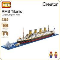 LOZ Blocchi di Diamante Technic Mattoni Building Blocks Giocattolo RMS Titanic Nave Barca A Vapore Modello Giocattoli per I Bambini Micro Creator 9389