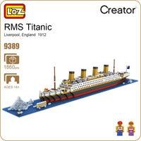 LOZ Diamond Blocks Technic Bricks Building Blocks Toy RMS Titanic Ship Steam Boat Model Toys For