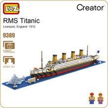 Blocos de Diamante LOZ Blocos de Construção de Brinquedo Tijolos Technic RMS Titanic Navio Barco A Vapor Modelo Brinquedos para Crianças Micro Criador 9389