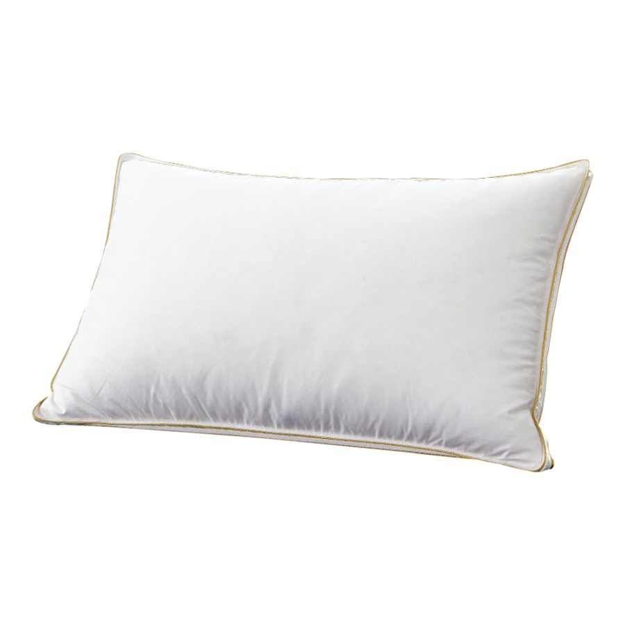 Peter Khanun Top Quality Brand Design White Duck Feather Neck Health Care Pillow 100% Cotton Allow The Feather To Breathe 007