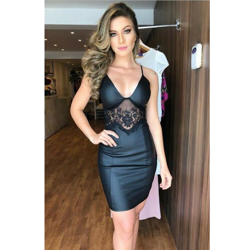 <font><b>Women</b></font> <font><b>Lace</b></font> Bodycon Bandage Sleeveless Evening Party Club Short Mini <font><b>Dress</b></font> <font><b>Elegant</b></font> <font><b>2019</b></font> Vintage Slim <font><b>Sexy</b></font> <font><b>Summer</b></font> <font><b>Fashion</b></font> Clothes image
