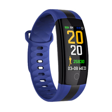 QS01 Smartwatch Activity Tracker Band Waterproof Sport Bracelet Blood Pressure Wristband Bluetooth 0.96 Inch OLED Color Screen