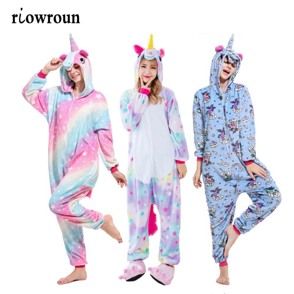 Adult Anime Halloween Cosplay Unicorn Costume Kigurumi Onesie Women Costumes  Cartoon Animal Sleepwear Stitch Pokemon Lion b186cf8d1