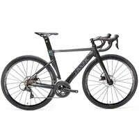 JAVA-bicicleta de carretera de aleación de aluminio, freno de disco doble 18, bicicleta de velocidad para carretera SORA R3000, sistema de cambio, horquilla de carbono