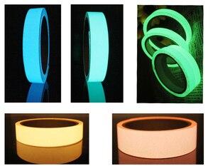 Image 3 - Yansıtıcı Glow Bant Kendinden yapışkanlı Etiket Çıkarılabilir Parlak Bant Floresan Parlayan Koyu Çarpıcı Uyarı Bandı