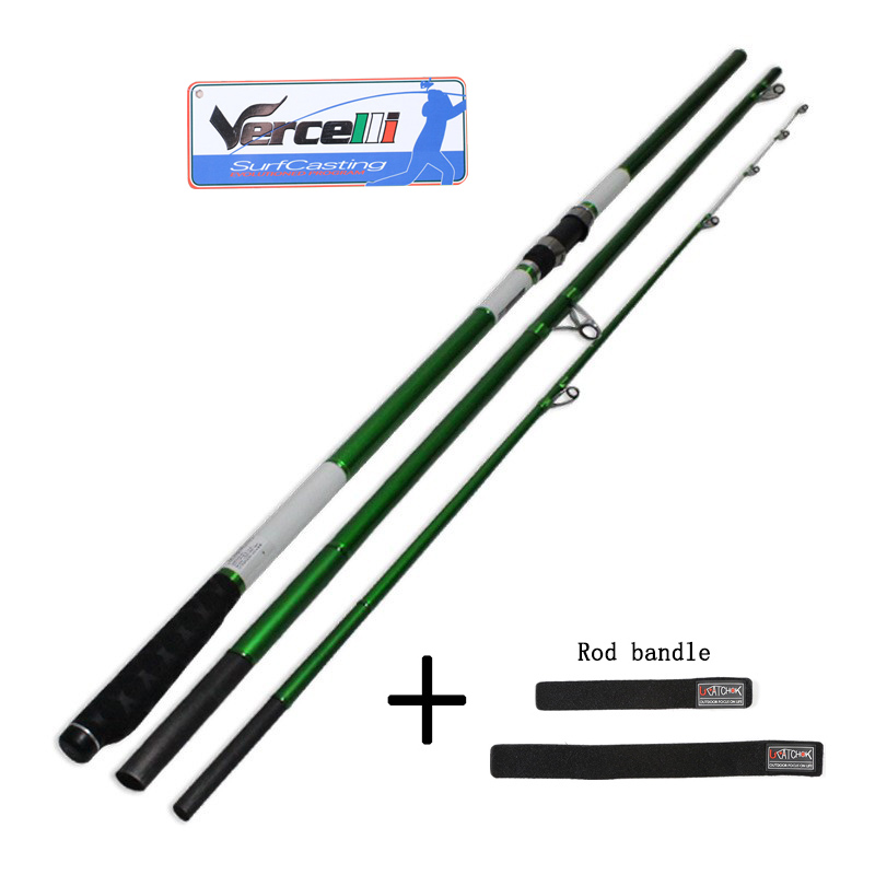 2018UCOK 4.2 M casting Wt 100-300g 3 sections SURF Casting ROD Carbon fishing rod Distance Throwing Rod Intervene throw carp rod 2015 free shipping 3 6m combo carbon fishing rod sections carp telescopic fishing rod spinning reel casting rod combo set