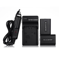 2pcs Rechargeable NP FH50 Battery Charger For Sony Camera Accessories NP FH40 NP FV50 DSC HX1