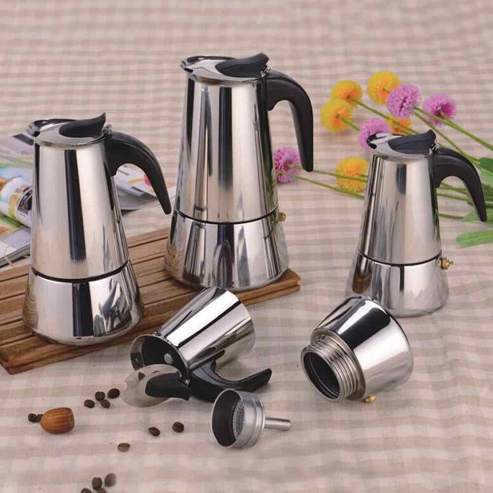 AsyPets Casa Requintada Mocha Cafeteira De Aço Inoxidável Chaleira com Filtro de Café Prático Aquecedor-20