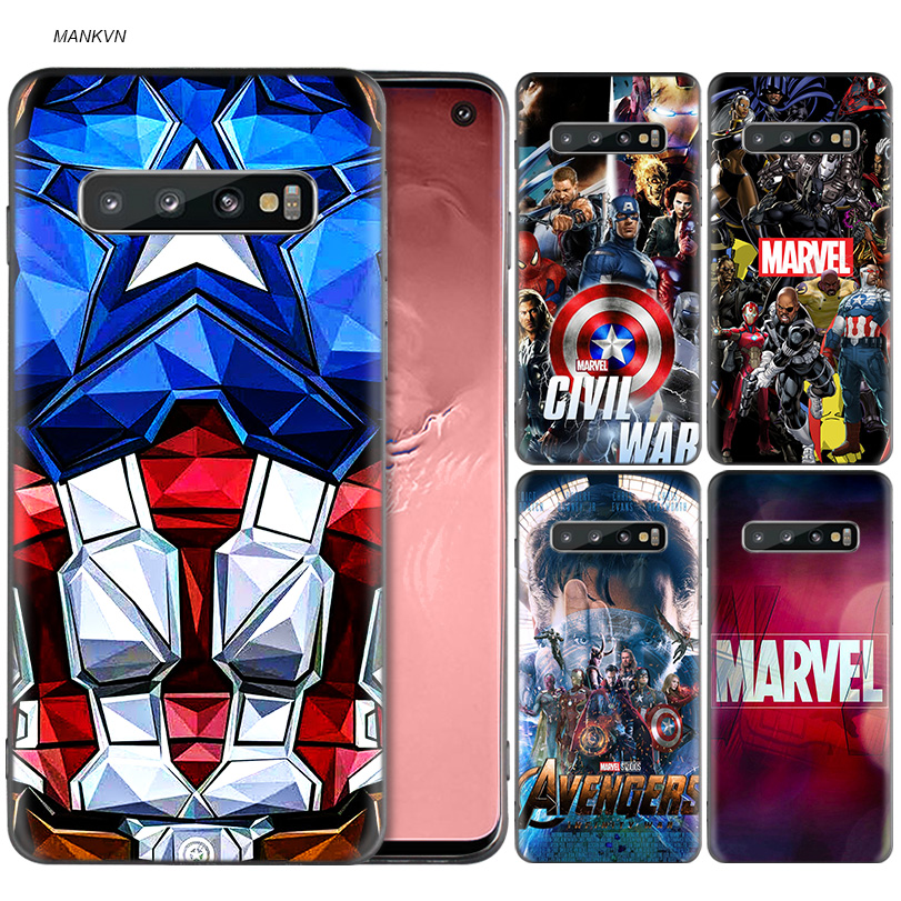 Luxury Marvel Comics TPU Back Case For Samsung Galaxy S8 S9 S10 Plus A50 A30 M30 M20 A6 A8 J4 J6 2018 Note 9 8 Cover