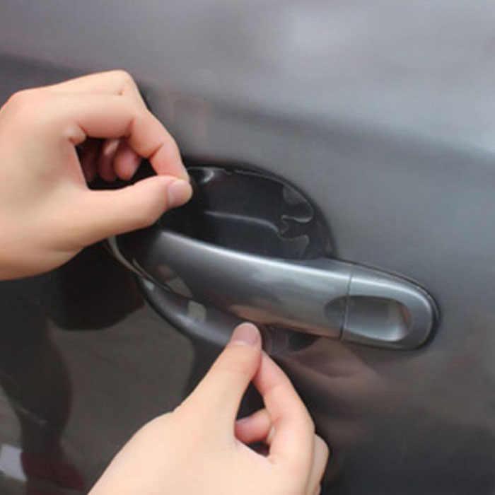 4x coche Universal TRANSPARENTE puerta lateral manijas pintura arañazos película protectora