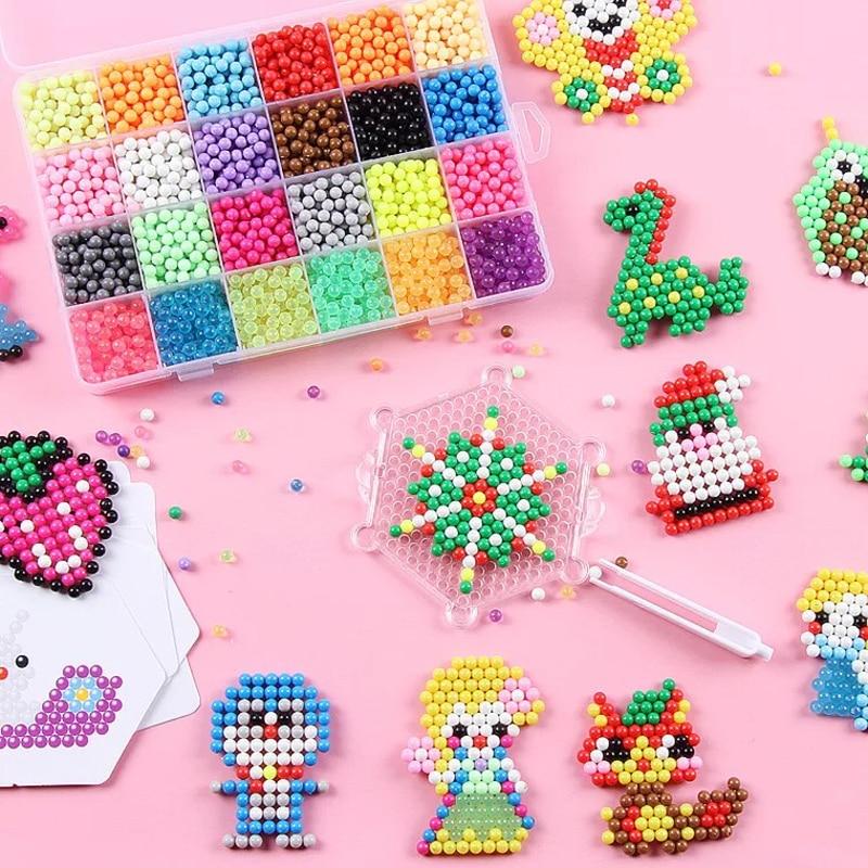 Educational-Toys Ball-Game Beads Puzzle Water-Spray Aqua Children-Kit Magic Hand-Making