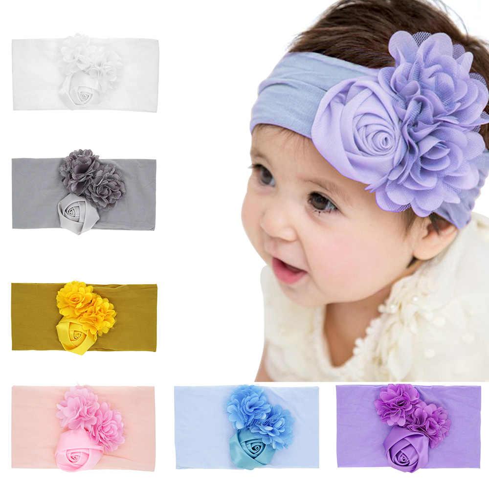 ילדי סרט פרח לילדה אוזן Hairbands ילדים טורבנים תינוק שיער אביזרי סרט תינוקת dropshipping