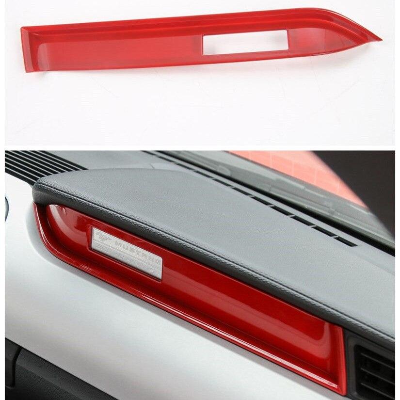 Rouge voiture intérieur moulage style copilote tableau de bord bande garniture pour Ford Mustang 2015 2016 2017