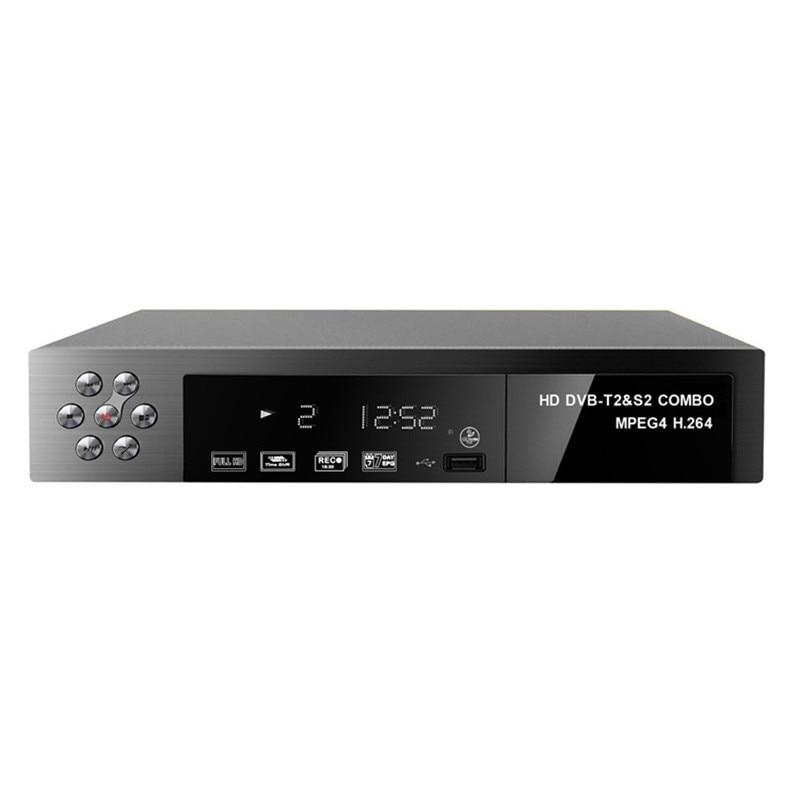 Set Top Box DVB-T2 dvb-S2 HD Digital Terrestrial Satellite TV Receiver Combo DVB T2 S2 H.264 MPEG-2/4 Tuner WIFI Network Bisskey tdt 1108v dvb t2 digital terrestrial receiver hd h 264