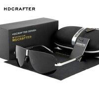 HDCRAFTER Senza Montatura Occhiali Da Sole degli uomini Polarizzati UV400 Lente di Guida Occhiali Da Sole Maschili Occhiali Eyewears Accessori Per Gli Uomini Shades Con Il Caso-in Occhiali da sole da Abbigliamento e accessori su