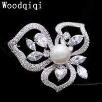 Woodqiqi broches sieraden mode kristal pin strass parel broche broches bijou broches para als mulheres pin badge