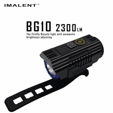 1pc best price IMALENT BG10 LED USB Charging Flashlight Bike Light CREE XHP50 2300LM OLED Screen Waterproof Bicycle +