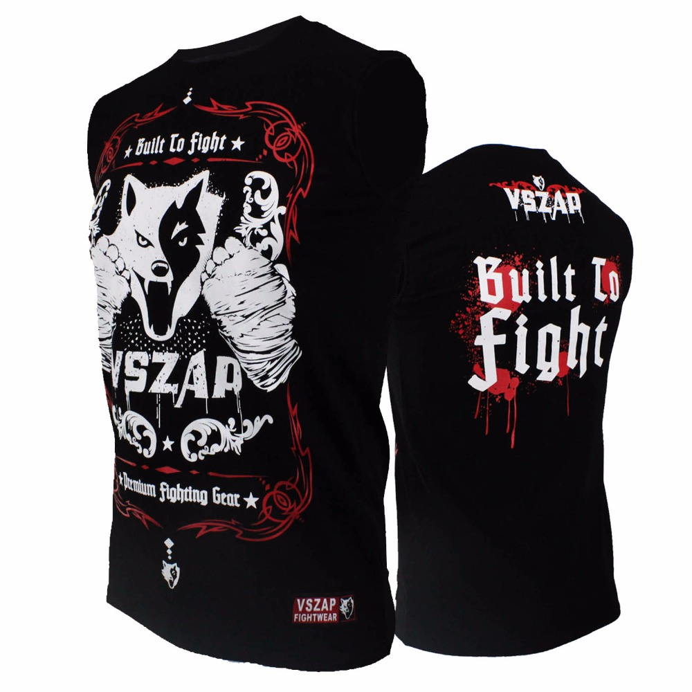 2017 MMA VSZAP Garnett Battle  Fighting Sleeveless T-Shirt Tactical Fitness Combat  Skill Free Glory Free Shipping