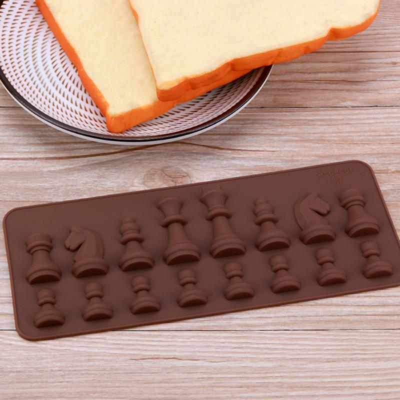 Silicone Chocolate Mold International Chess Shapes Chocolate Cake Jelly Ice Fondant Mold Mould Baking for DIY Candy Cake Topper Decoration