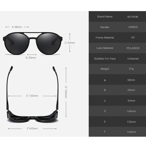 KEITHION Retro Round Polarized Sunglasses Steampunk Men Women Brand Designer Glasses Oculos De Sol Shades UV Protection Multan