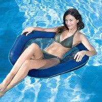 90 cm şişme yüzen satır tek su kanepe pvc plaj havuz recliner su şezlong, hava su yüzer havuz tarafı fasulye torbaları