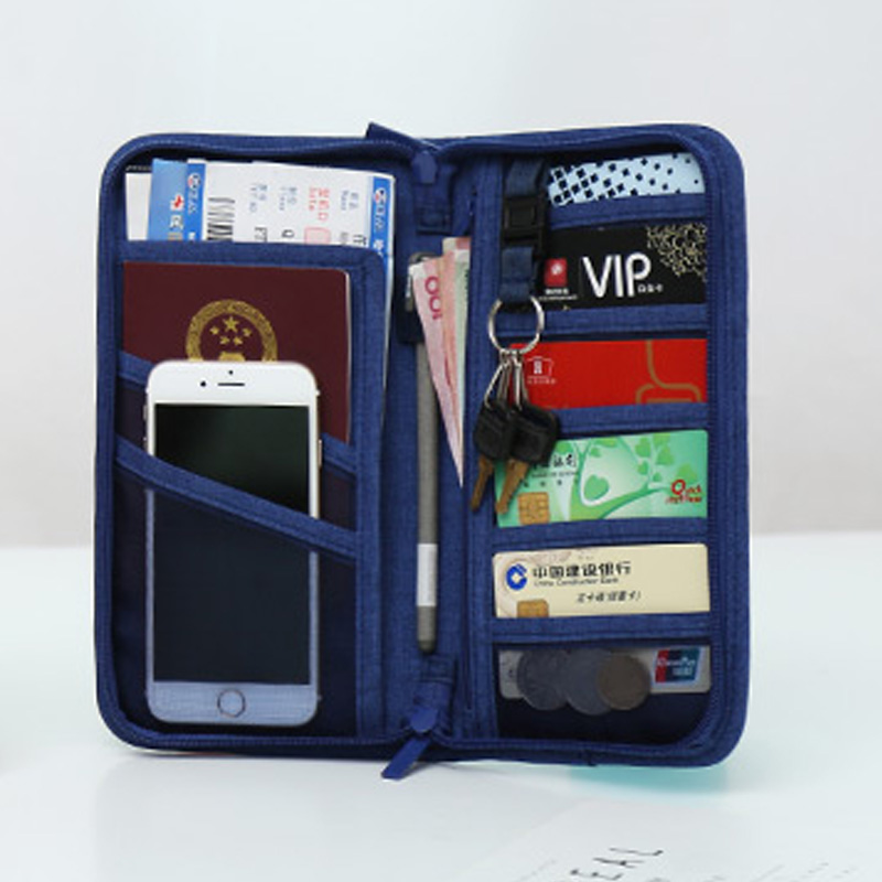 Travel Passport Cover Multifunction Wallet Document Organizer Cover Men Women Business ID Card Holder Case Wrist Strap PC0047 (12)