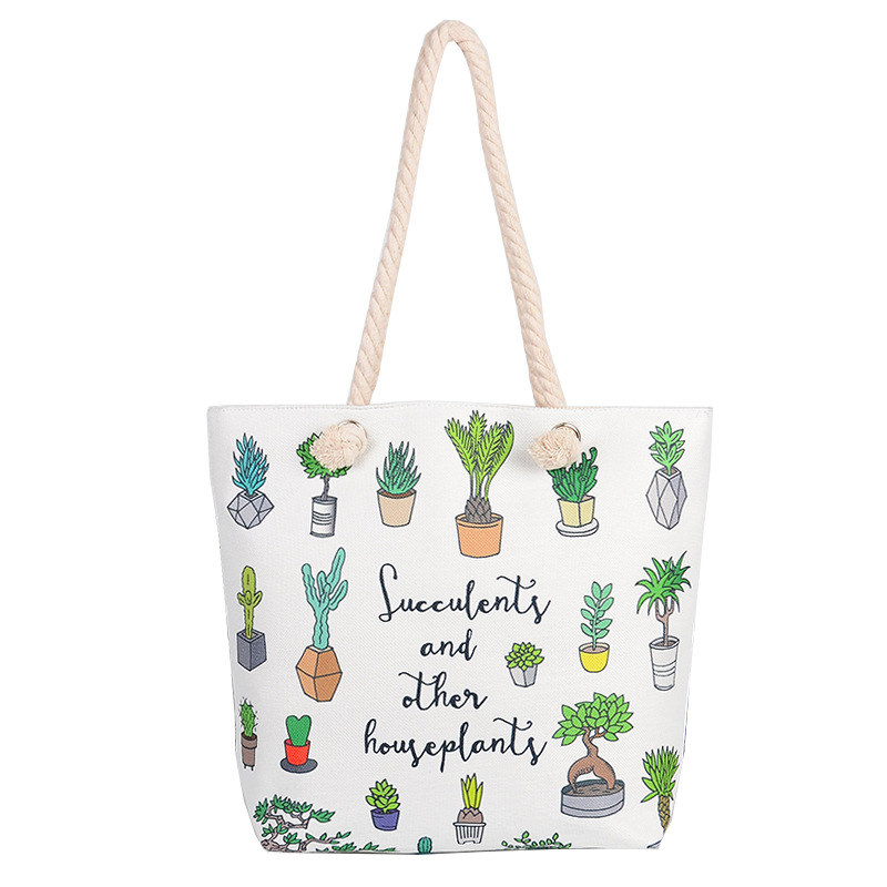 Pouch Storage-Handbag Travel 300pcs Fashion Canvas Tote Eco Foldable Student Women