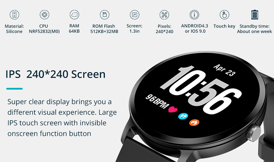COLMI V11 Smart watch IP67 waterproof Tempered glass Activity Fitness tracker Heart rate monitor BRIM Men women smartwatch 1-