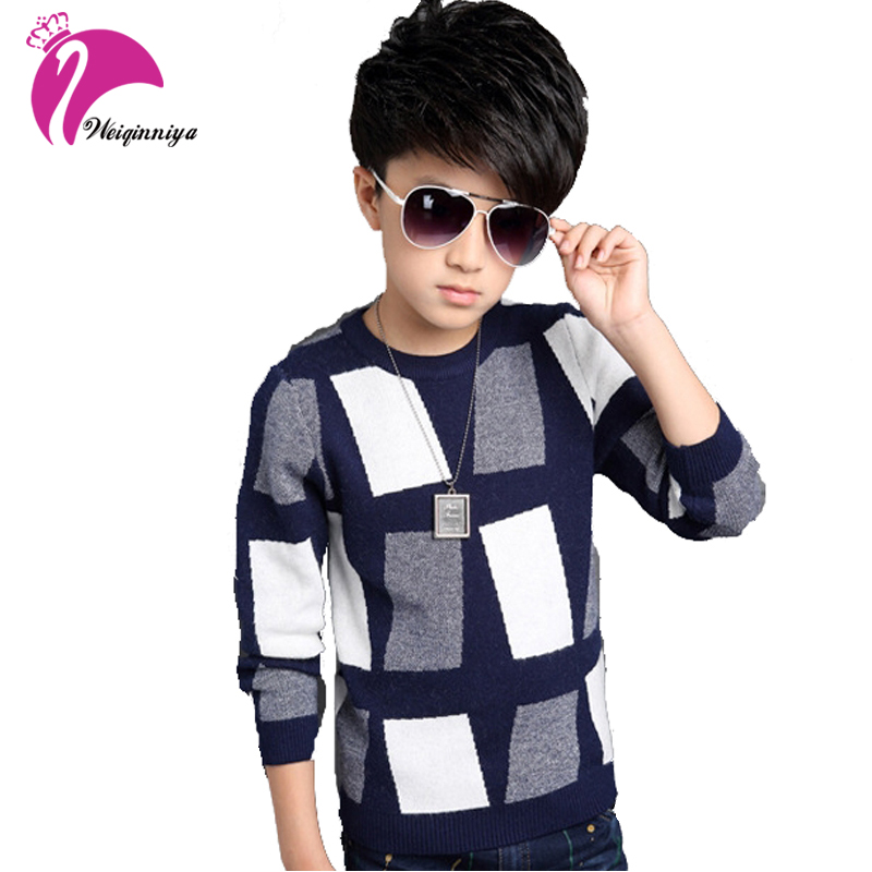 2016 Fashion Brand Boys Sweater Winter Autumn Boy Outwear Sweater Cotton Kids Sweater Children Outerwear Knitwear