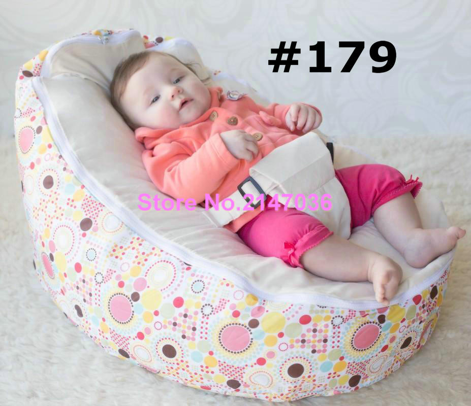 Popular Sprinkles cream seat Polyester Baby Bean Bag for Sleep Baby Bean Bag Chair OEM
