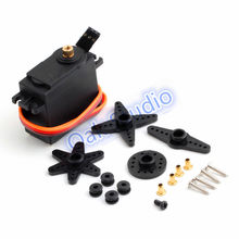 180 degree Metal Gear Digital Servo with a full set of accessories, High Torque,For robot , mechanical arm, car, Free shipping(China)