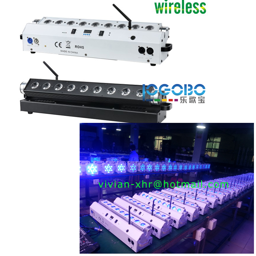 4Pcs x Led Wall Washer Light 9x15W RGBWA 5IN1 Led Up Lights Color Change Strobe Dimmer Jump Function DMX Bar DJ Disco Party Show
