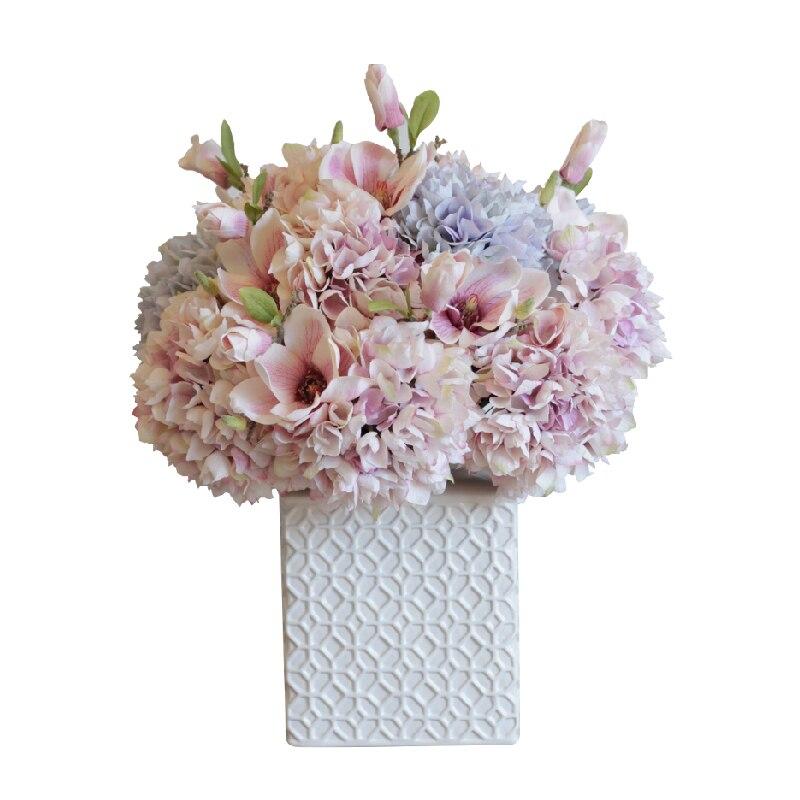 Hydrangea Flower Artificial Silk Flowers For Home Decoration Wedding